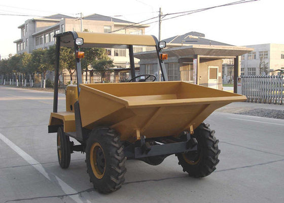China Wheel 2WD 1.5 tons Tracked Wheelbarrow Hire , Hydraulic Concrete Four Wheel Barrow supplier