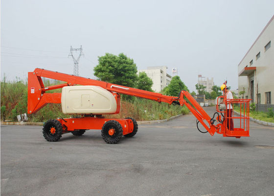 China Telescopic / Articulating Type Mobile Aerial Platform , Outdoor Aerial Working Man Lift for Rent supplier