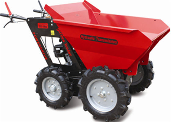 China Stepless Speed Change Transmission 4 Wheel Wheelbarrow for Engineering Construction 300kgs supplier