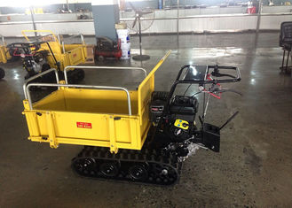China Mechanical Transmission Case Concrete Dumper , Auto Turning Powered Wheelbarrow Tracked supplier