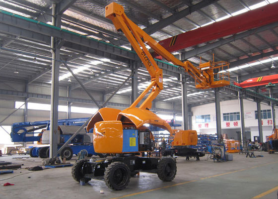 China 16 Meter 2WD Articulated Hydraulic Boom Lift With 230kgs Capacity 180 Return Platform supplier