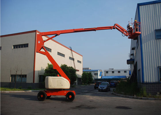 China 4 Link Weighing Devices Self Propelled Articulated Boom Lift Towable supplier
