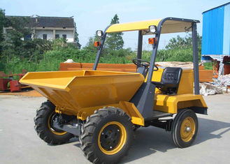 China 2WD Diesel Mini Concrete 1 Ton Dumper With 470L Skip Capacity Rigid  Frame Chassis supplier