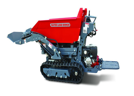 China X Support 1.4m Lifting Height Tracked Barrow Hire , Hydraulic Power Assisted Wheelbarrow  supplier