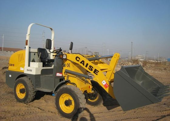 China Diesel Small Tractor Front End Loader , Hydraulic CS910 Articulated Wheel Loader supplier