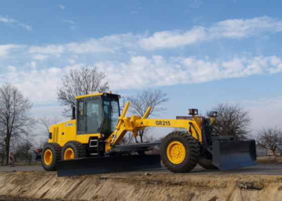 China GR Series 1.65 Ton Tractor Road Grader GR215 With Front Dozer and Ripper supplier