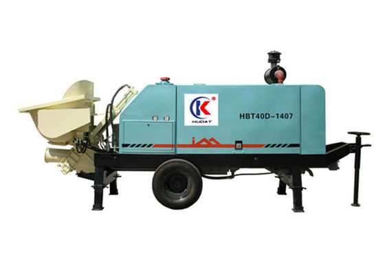 China Slide Valve 40m3/h Concrete Pumping Systems With 58KW Diesel Engine 4 Cylinder supplier