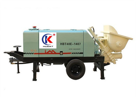 China Intelligent Power Control System Concrete Pumping Equipment , 36 m3/ h Electric Portable Cement Pump supplier