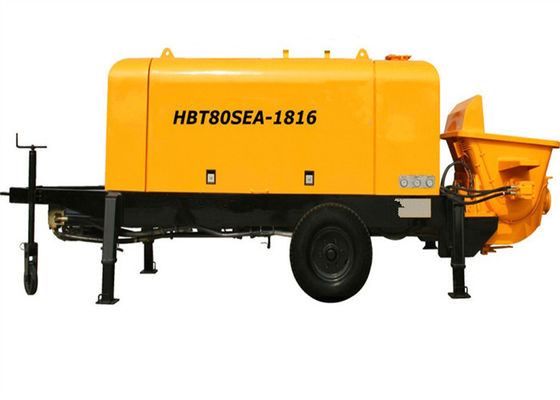 China Electric Remote Controller Hydraulic Concrete Pump For Concrete / Cement Pumping Works supplier