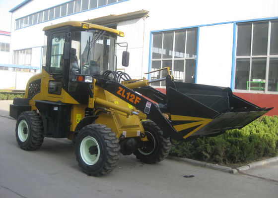 China 0.6 CBM Rated Bucket Front End Wheel Loader , 37KW Rated Power Four Wheel Loader supplier