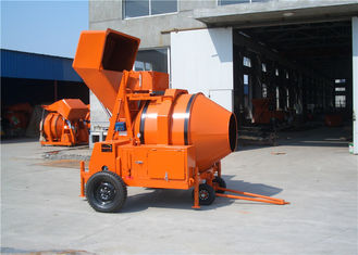 China Hydraulic Tipping Hopper Mobile Diesel Concrete Mixer Machine For Concrete Mixing Works supplier