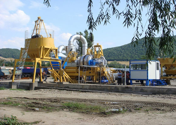 China Oil Burner / Coal Burner Asphalt Mixing Plant with Wear Resistant Vane and Mixing Arm supplier
