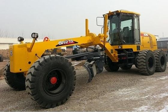 China XCMG 215HP Motor Grader Machine GR215 With 450mm Max. Lift Above Ground  And Front Blade supplier
