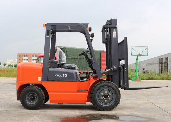 China Industrial 3 Tonne Forklift Truck for 3 Meters Max Lifting Height 160MM Free Lift Height supplier