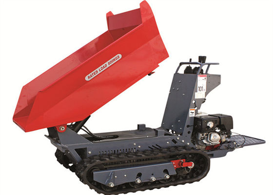 China Mini 4WD 0.8 Tons Concrete Dumper With 100cm Lifting Cpacity Hydraulic Piston Pump supplier