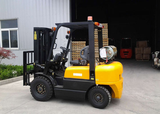 China Dual Fuel Forklift Industrial Forklift Truck ,  3000MM Lifting Height Propane Tank Forklift supplier