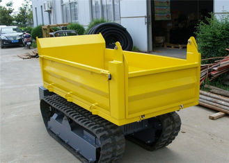 China Honda Gasoline Engine 1000kgs Tracked Concrete Dumper For Site Works CE / SGS / ISO supplier