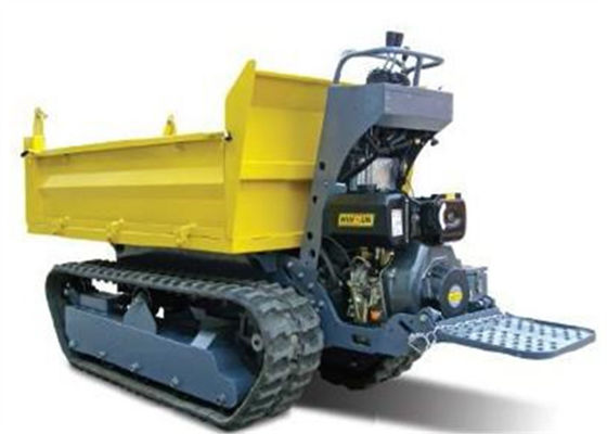 China 1 tons Crawler Mini Tracked  Dumper With Hydraulic Pump Stepless Speed Changes supplier