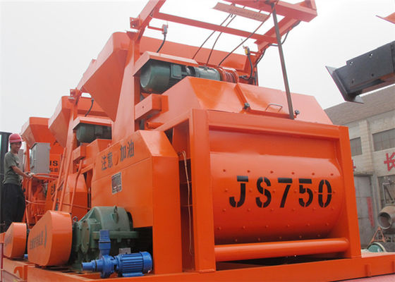 China 750L Electric Twin Horizontal Shafts Concrete Mixer Machine 0.75 m3 Discharge Capacity supplier