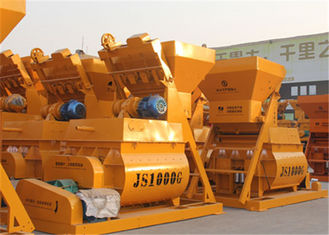 China Twin Shaft Forced Concrete Mixer Machine , 1500L Loading Capacity Concrete Mixing Plant  supplier