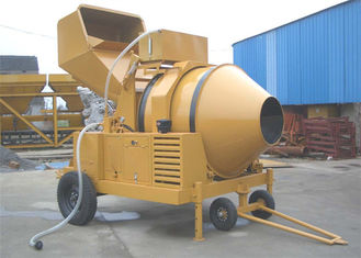 China 500L Diesel Engine Mobile Concrete Mixer Machine With Mechanic Transmission And Hydraulic Tipping system supplier