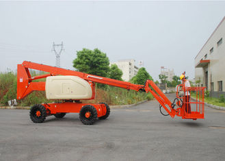 China Hydraulic 20M Articulated Boom Cherry Picker Lift With Cummins Engine 180° Platform Rotation supplier