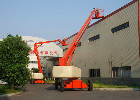 China Self Propelled Articulated Hydraulic Boom Lift for Aerial Work 24M Lift Height 230Kg Rated Capacity supplier