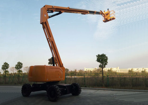 China Articulated Boom Upright Mobile Elevating Work Platform Diesel Powered 18.1M Maximum Horizontal Reach supplier
