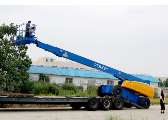 China 28M Self Propelled Telescopic Vehicle Mounted Hydraulic Boom Lift With Cummins Diesel Engine GTBZ28 supplier
