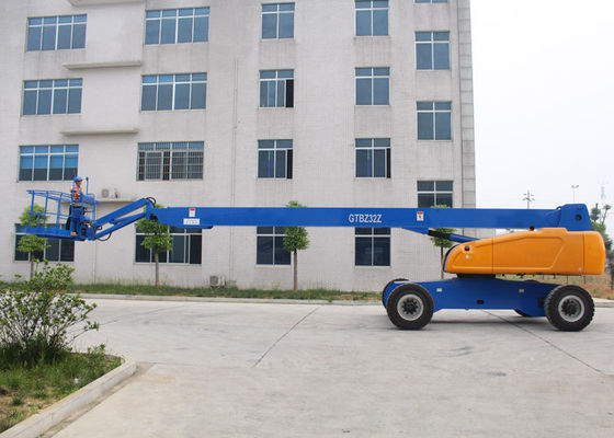 China 360° Continuous Turntable Aerial Work Platform ,  Articulated Boom Trailer Mounted Cherry Picker supplier