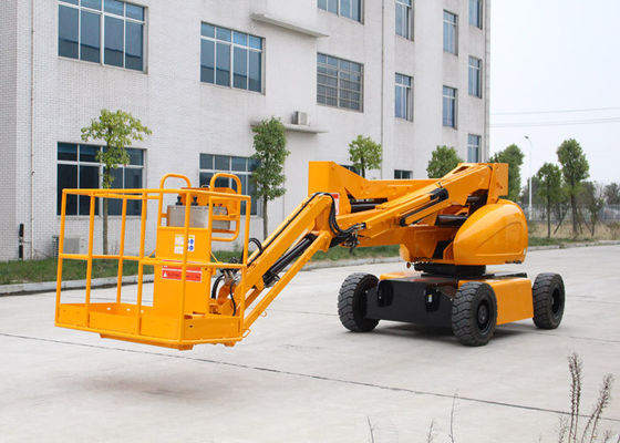 China 10M Electric Powered Articulated Hydraulic Boom Lift With 200KG Lifting Capacity Trojan Battery supplier