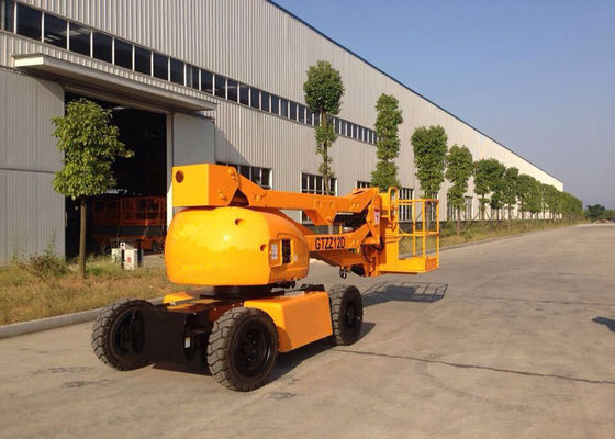 China 12M Articulated Boom Cherry Picker Truck for 7.6M Max Horizontal Reach Aerial Operation supplier