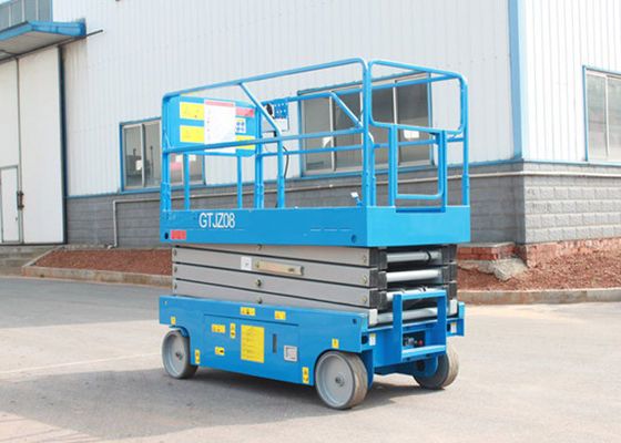 China Full Electric Hydraulic Boom Lift , Self Propelled Scissor Lift 8M Platform Height 450Kg Rated Capacity supplier