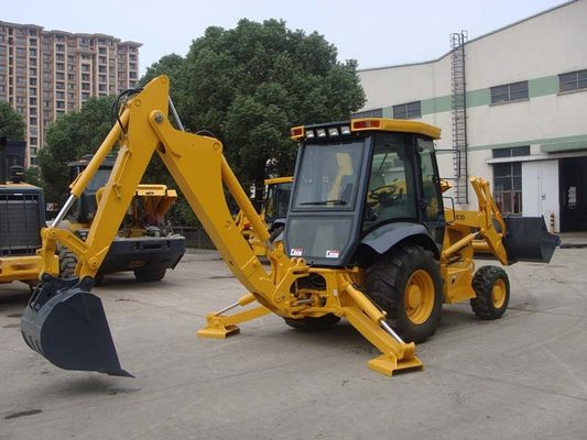 China Tractor with Front End Loader and Backhoe , 70KW Power Heavy Equipment Backhoe supplier