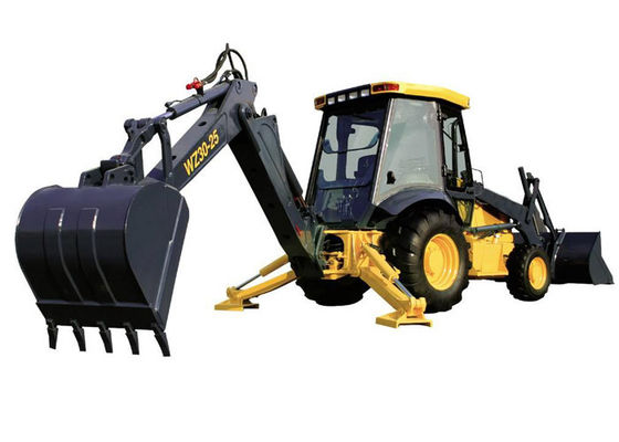 China Synchromesh Mechanical Shift Tractor Backhoe Loader for Road Construction supplier