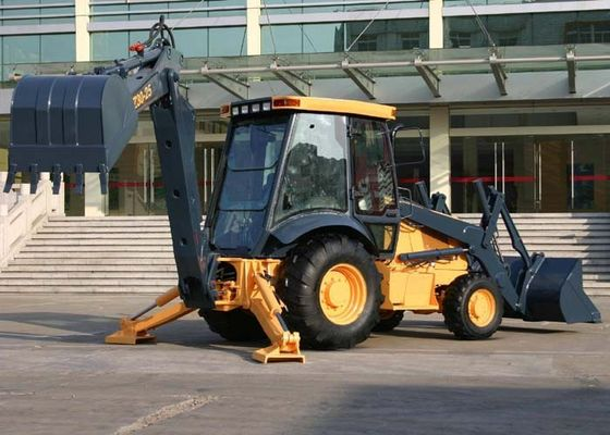 China Cummins Diesel Engine Construction Backhoe, 1.0m3 Loading Capacity Tractor Front Loader supplier