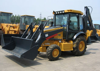 China 0.8 - 1.2m3 Bucket Capacity Tractor Backhoe Loader , Deutz Diesel Engine Construction Heavy Machinery supplier