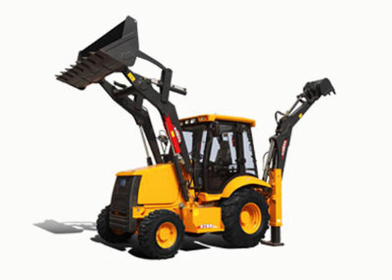 China Cummins Diesel Engine Big Compact Tractor with Backhoe 82KW Power Low Maintenance supplier