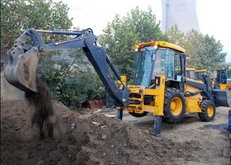 China Engineering Construction Compact Tractor Loader , 4WD Tractor Mounted Backhoe supplier