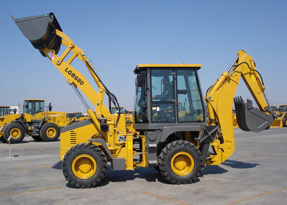 China Energy Saving Eco Tractor Backhoe Loader for Piping Builds / Cable Builds / Park Virescence supplier