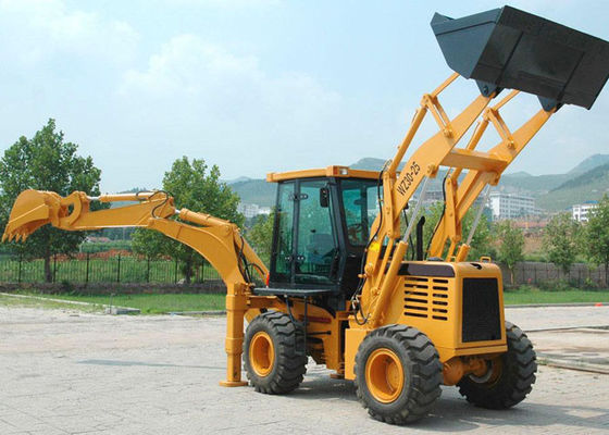China 360° Rotating Damping Seat Tractor Backhoe Loader for Municipal Projects / Raod Maintenance supplier