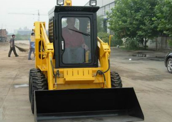 China Small 4WD 40HP Power Skid Steer Compact Track Loader1500 kg Lifting Force supplier