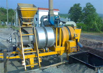 China 8 TPH Mobile Double Drum Asphalt Mixing Plant With 300kgs Feeder Hopper Capacity supplier