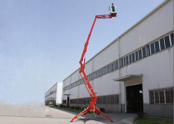 China 16M Trailer Mounted Boom Lift Hydraulic Towable With 14M Platform Height KD-P16 supplier