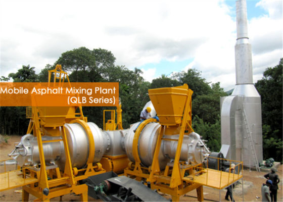China 10 Tons Capacity Hot Asphalt Mixing Plant With Auto Control Manually PLC Control System supplier