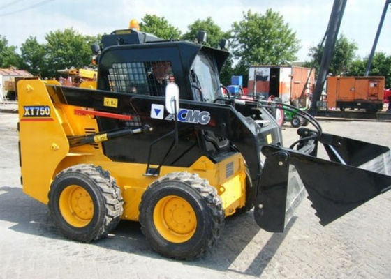 China Bobcat Attachments Full Hydraulic Compact Wheel Loader , 70HP Power Loader Skid Steer supplier