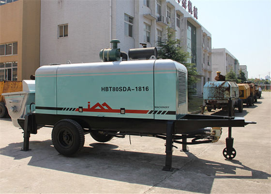 China 150M Delivery Tube Diesel Trailer Mounted Concrete Pump For Concrete Pumping Works supplier