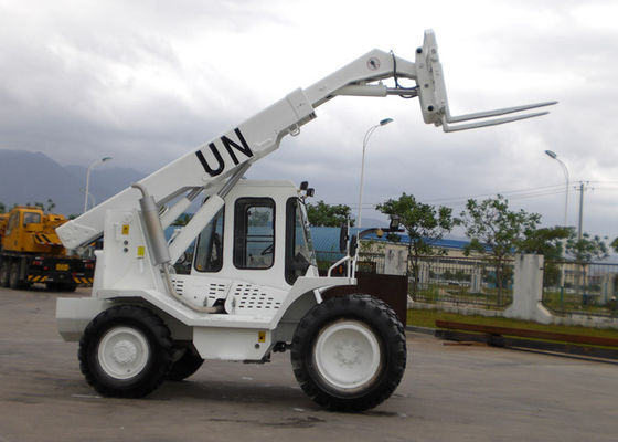 China 2 Segment Quadrilateral Telescopic Boom Variable Reach Forklift 4 Wheeled Driven supplier