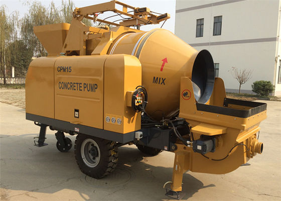 China 350L 15CBM Per Hour Truck Mixer Concrete Pump For Engineering Construction CPM15 supplier