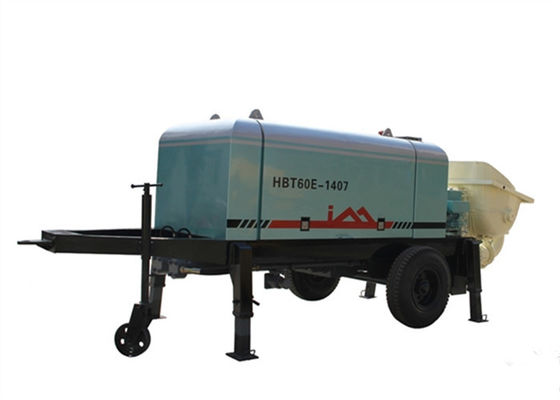 China Trailer Electric Concrete Pump , 6.7Mpa Pressure 60m3 / h Concrete Pump Truck Rental supplier